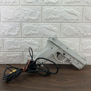 Guncon Gunman Blaster Light Gun For PS1 PS2 Playstation Cleaned & Tested Shown