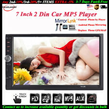 7'' 2 DIN Touch Screen Car Radio Audio BT Stereo USB/TF/AUX/FM/Remote MP5