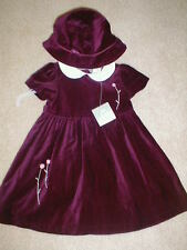 NWT 2 pc GYMBOREE BURGANDY HOLIDAY DRESS w/  Hat 2T  VINTAGE
