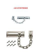 Forte in acciaio Cromato Porta Di Sicurezza Catena Guard Slide Bullone + VITI SICUREZZA CASA