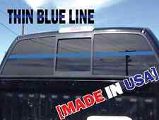 "2x60"" THIN BLUE LINE WINDSHIELD STRIP Decal Sticker Police Lives Matter USA"