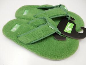 Sanuk Mens Sandals Furreal Classic Chill Sanuk Green Size 9