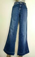 £150 Designer SEE BY CHLOE jeans size 28 low waist flared mid blue stonewashed