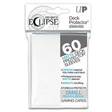 Eclipse Deck Box Sleeves White 60ct. Small Fits Vanguard & Yugioh ultra pro
