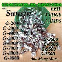 LOT OF 5 EMERALD GREEN LED 8v WEDGE LAMP BULB G-5000 G-7000 G-7500 G-8000 G9000