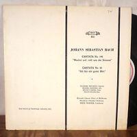 Fritz Werner Johann Sebastian Bach LP MHS 823 original VG-