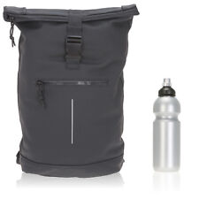 Sac à dos Bâche Time Bag messager Sac à dos Roll-up Vélo Sac à Dos Bag 00 noir + f
