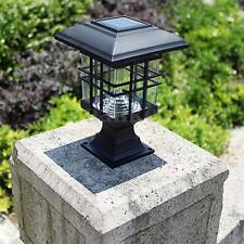 Solar powered LED Garden Yard Bollard Pillar Light Post Lamp Outdoor