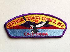 BOY SCOUT BSA CSP COUNCIL PATCH VENTURA COUNTY CALIFORNIA PLAIN LIGHT PURPLE