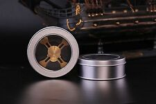 iSpin S5 Hand Spinner Bearing R188 SS Fidget Device Gold Skull Pure Brass