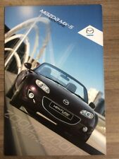 MAZDA MX-5 VENTURE SPECIAL EDITION 2011 RANGE CAR BROCHURE ROADSTER COUPE MX5