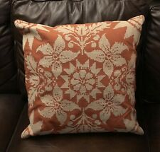 """Pottery Barn Snowflake Cross-stitch Pillow Cover Red Flax 24"""""""