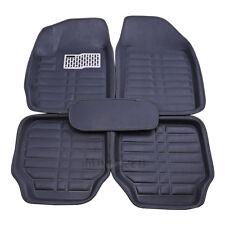 All Weather 5Pcs Universal Car Floor Mats FloorLiner Front & Rear Carpet Black