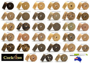 Cork Rings for Fishing Rod Grips by Cork4us | Burl, Burnt, Coloured & much more!