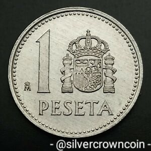 Spain 1 Peseta 1985. KM#821. One Dollar coin. Carlos l.