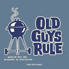"""OLD GUYS RULE """" SMOKIN HOT AND SEASONED TO PERFECTION """" GRILL MASTER BBQ S/S XL"""