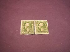 US Stamp Scott#  380  Washington 1911 Pair  MH  C249