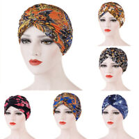 Boho Print Cancer Chemo Hats Women Muslim Hijab Hair Loss Head Scarf Turban Caps