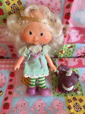 Vintage 1979 Strawberry Shortcake ANGEL CAKE & Pet Skunk SOUFFLÉ Doll KENNER EUC