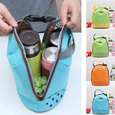 Portable Cooler Tote Insulated Canvas Lunch Bag Thermal Food Picnic Lunch Bags