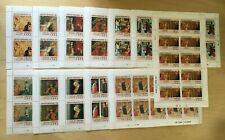 FULL SHEETS Grenadines 1992 1461-71 - Christmas Paintings - Set of Sheets - MNH