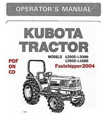 Heavy equipment manuals books for kubota tractor ebay kubota tractors l2900 l3300 l3600 l4200 operators owners manual guide on cd rom sciox Images
