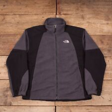 """Mens Vintage North Face Grey Polyester Outdoors Fleece Jacket Large 44"""" R8640"""
