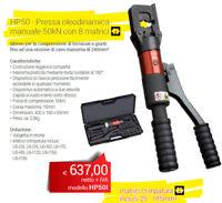INTERCABLE HP50 - Pressa oleodinamica manuale 50kN con 8 matrici