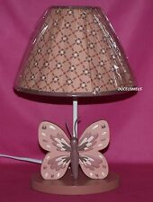 COCALO EMILIA LAMP PINK MAUVE PLUM BUTTERFLY NURSERY LAMP NIB!