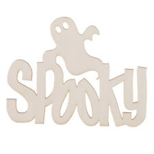 Spooky Ghost Halloween Laser Wood Cut out Shape - Unfinished - 5 x 3.25 in