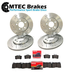 SAAB 93 VAUXHALL SIGNUM VECTRA C FRONT & REAR DRILLED & GROOVED DISCS PADS 314mm