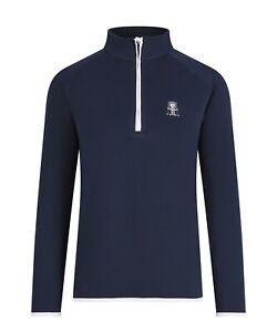 Golf Goddess 1/4 zip up Navy Women's Pullover - Golf Top - Golf Jumper