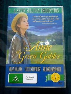 ANNE OF THE GREEN GABLES - MEGAN FOLLOWS-DVD - REGION-4, LIKE NEW
