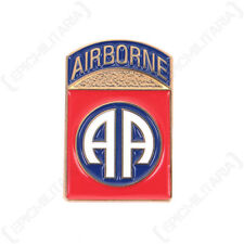 US 82nd AIRBORNE BADGE Paratrooper All American Division Enamel Metal Pin Army