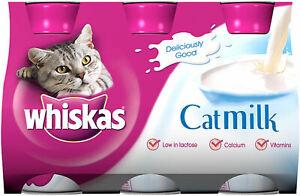 whiskas Catmilk 3 x 200ml - low in lactose, calcium/vitamins, no preseratives