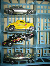 "4 RARE HTF HOT WHEELS 3 MADE IN MALAYSIA & 1 IN INDIA , "" SOLD AS IS """