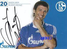Mladen krstajic + 2008/2009 + fc shalke 04 + autografiada tarjeta autografiada + +