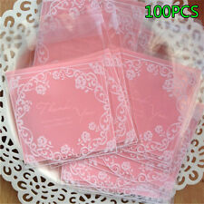 100pcs/Lot Cookie Bakery Candy Christmas Gift Packaging Bags Self-adhesive Seal