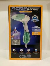 Conair Extreme Steam Hand Held Fabric Steamer with Dual Heat, White/Green