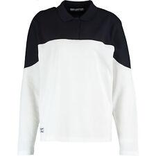 LACOSTE Women's White & Navy Two Tone Polo Shirt, Medium / FR 40
