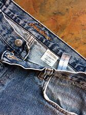 EDDIE BAUER Classic Fit Straight Leg Men's Tall Blue Denim Jeans Size 35W x 30L