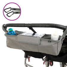 BTR Twin Pushchair Double Buggy Organiser Pram Bag With Cover & Pram Clips