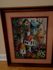 Home Interior By Barbara Mock/ Wall/ of Birdhouses/ flowers and Ivy