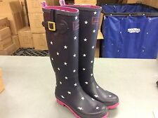 Joules Women's Welly Rain Boots Navy Star Size 8 M