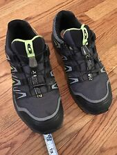 SALOMAN MENS ORTHOLITE XACOMP 7HIKING SHOES 8.5 TOGGLE CLOSURE GRAY GREEN $130