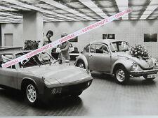 ORIGINAL FOTO AUS VW/PORSCHE WERKSTATT 1970er JAHRE KÄFER/VW PORSCHE