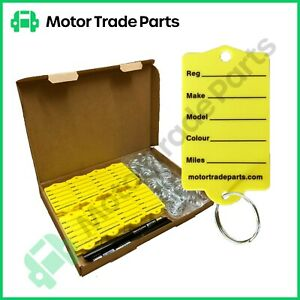 Key Rings Key Tags x  200 - For Car Dealers and Mechanics