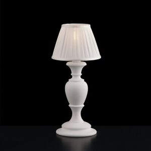 Bedside Lamp Lumetto Wooden Classic Vintage White Shabby Chic