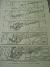 Enlargements successive station Saint Lazare Engraving 1886