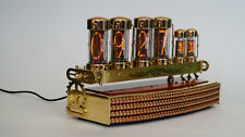 Nixie tubes clock IN-18, IN-14 handmade steampunk